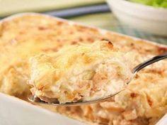 Torta de batata com frango