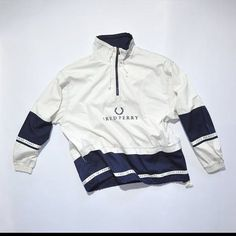 Vintage FRED PERRY Pull Over // Fred Perry Half Zip // 90s Fashion Outfits // Retro Streetwear // Windbreaker // Oldschool // men // women // unisex // Rare Clothing Clothes Items // varsity// bomber// style // Jumper // Pullover // etsy