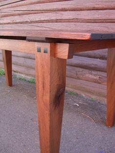 Dining Table - Farmhouse Zen- in Rustic Antique White Oak by Studio 1212
