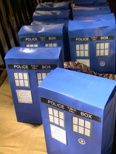 Dr. Who party bags. Im having these at my party  :)