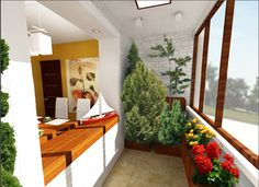 Eco Green Plant Decoration at Small Apartment Balcony Balkon Apartment Bathroom Design, Modern Apartment Design, Apartment Balconies, Cool Apartments, Glass Balcony, Small Balcony Design, Apartment Living, Studio Apartment, Small Spaces