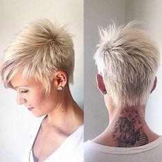 funky highlights short grey hair | short funky hairstyles for grey hair by rosethomasuk