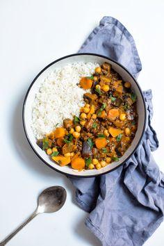 Vegetarian Recipes, Healthy Recipes, Chana Masala, Tofu, Ham, Food And Drink, Tasty, Lunch, Meals