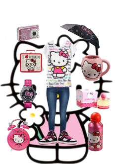 """""""Hello Kitty Love"""" by fashion1psychology ❤ liked on Polyvore"""
