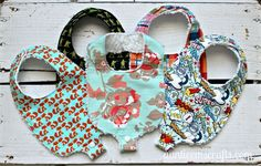 Make a two-in-one bib and binky strap with this free Binky Bib pattern and tutorial by Auntie Em's Crafts.