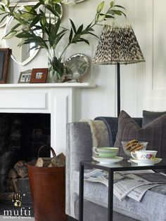 Interior design project : Riverside Apartment in Mortlake, London. Riverside Apartment, Casual Elegance, Home Fashion, Lamp Shades, Tapestry, The Originals, Interior Design, Cool Stuff, House Styles