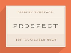 New font: Prospect
