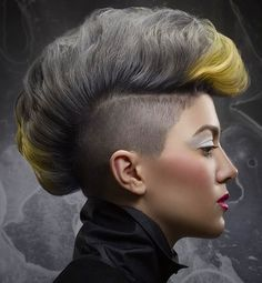 Gorgeous cut and silver color to blow your mind by @hairbyhigginbotham  by hairnmotionmagazine