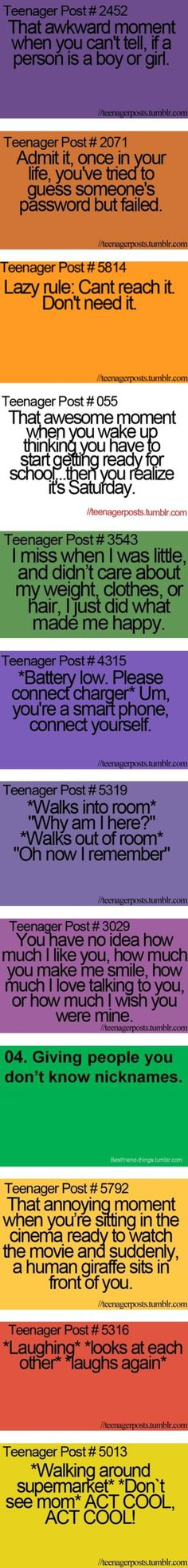 """Funny Teenager Post"" And my friend and I made up nicknames for like everybody.... Faith..."