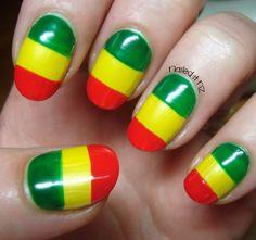 rasta nails-one love