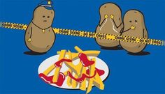 potato crime scene