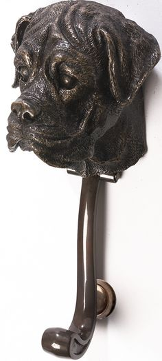 Boxer Dog Front Door Knocker : Black Country Metalworks Ltd
