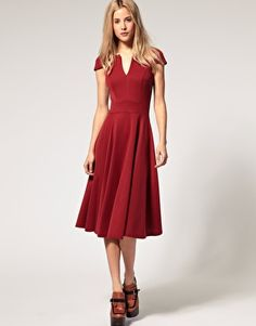 asos red dress