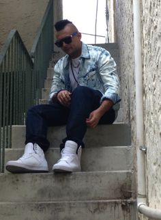 176724034371 Sean Paul wearing Skytops Supra Footwear