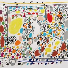 """""""Le Picador II"""" 1961 Lithograph printed in 23 colors Edition: PP"""