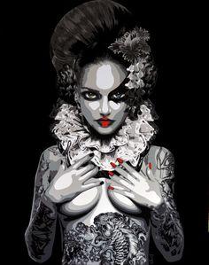 Perséphone by Juliette Clovis. 2013 Vinyl on plexiglas