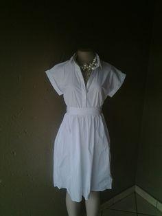 White cotton dress.