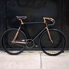 Black and copper fixie