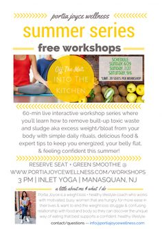 Learn how to start every morning full + energized, no more caffeine crash! FREE LIVE 60-min workshop, Sat. 9/6 @ 3PM, Inlet Yoga Manasquan NJ