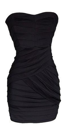 40 Black Strapless Sweetheart Bandage Dress