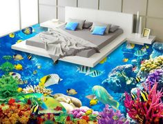 Cheap oceanic dolphin, Buy Quality floor mural directly from China 3d flooring Suppliers: Beach floor murals in wall stickers Custom Photo self-adhesive 3D floor  PVC waterproof floor Home Decoration   USD 50.0