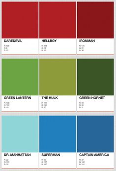 PANTONE Colors of Superheroes