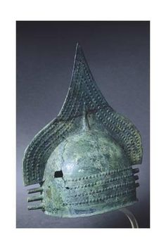 Giclee Print: Crested Helmet with Bronze Covering, from Fermo, Marche, Italy, 8th Century BC : 24x16in