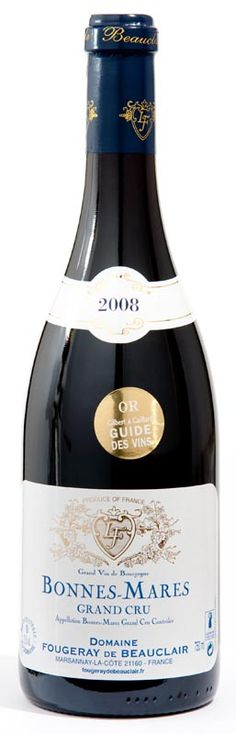Fougeray de Beauclair Bonnes-Mares Grand Cru 2008, Burgundy France  -Best Pinot Noir