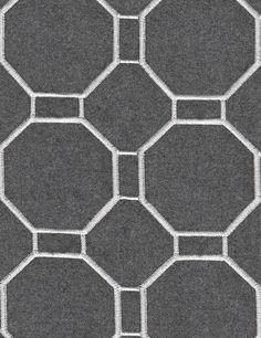 Good Look Room - Fabrics - Collections - Andrew Martin: Mondrian Charcoal Aqua Wallpaper, Unique Wallpaper, Fabric Wallpaper, Geometric Embroidery, Geometric Fabric, Embroidery Ideas, V Collection, Sofa Upholstery, Mondrian