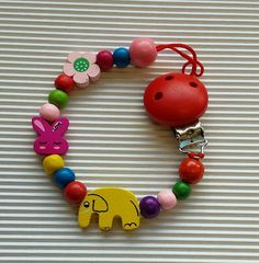 Colorful Teething  Dummy clip pacifier by TheMoonKidsBoutique