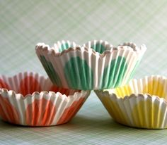 Pastel Tulip Cupcake Liners