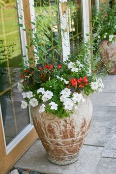 Great Ideas For A Patio Collection Of Potted Plants