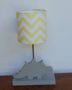 Dinosaur Lamp - Handmade Wooden Animal Desk or Table Lamps - Great for Nursery or Child's Bedroom