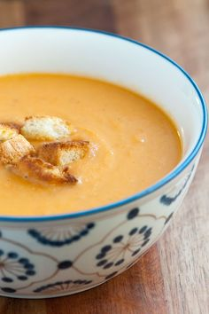 Easy and Creamy Vegetable Soup Recipe from www.inspiredtaste.net #recipe #soup