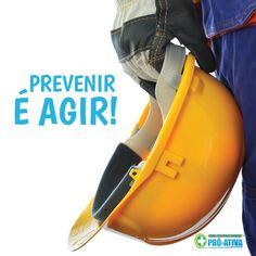 Não confie na sorte, confie em seu EPI (Equipamento de Proteção Individual). Sua proteção é garantia de segurança em seu trabalho.  Proteja-se e previna-se contra acidentes. #ProAtiva #Dica #SegurancadoTrabalho