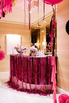 Black, Pink And Gold Bachelorette Party In Las Vegas