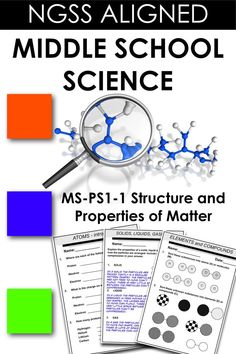 NGSS Middle School Lesson plans for MS-PS-1-1 Matter and Its Interactions. This 100+ page resource is sure to engage your students.