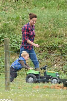 Exclusive: Kate Middleton and Prince George Keep the Cute Park Pictures Coming!
