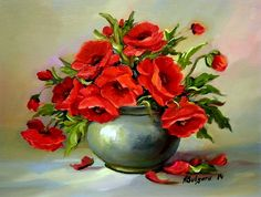 Bodegones florales. Artista Anca Bulgaru .. Discusión liveinternet - Servicio de Rusia Diarios Online