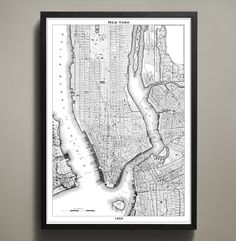 Map Print, NEW YORK CITY – Map Prints by GeoArtShed