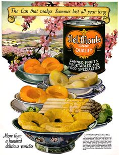 Del Monte Canned Foods -1923