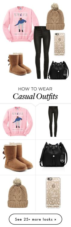 """Casual Winter Day"" by afshan-h on Polyvore featuring UGG Australia, MICHAEL Michael Kors, Casetify and Chicnova Fashion"