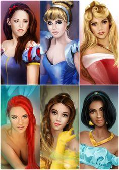 My Disney Princesses by MartaDeWinter.deviantart.com