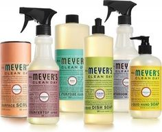 Mrs. Meyers Cleaning Products.                                             How did we ever clean without these products.....