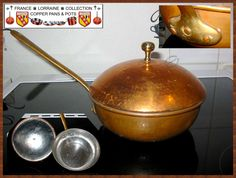 Very nice rounded Copper Pan Tin with Lid