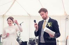 Grooms Speech Toasted By Bride At Marquee Wedding Photography One Thousand Words Photographers