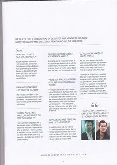 Twitter / DAW4: David Gandy M&S brochure january 2014