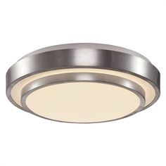 Lucid Lighting 12.59-in W Brushed Nickel Integrated Flush Mount Light