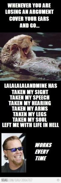 Trolling with lyrics. Metallica.
