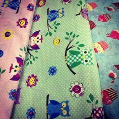 SnapWidget | Novos tecidos para patchwork da Círculo! Amei as corujas!!! #coruja #patchwork #circulo